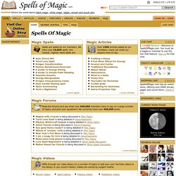 Spells Of Magic - Learn Witchcraft, Wicca and Magic | Pearltrees