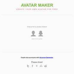 Avatar Maker - Create Your Own Avatar Online | Pearltrees