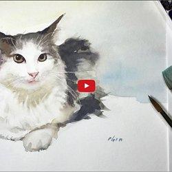 Dessin Et Peinture Vieo 2574 Comment Peindre Chat Et Chaton A L