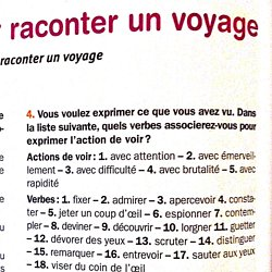 expression ecrite recit de voyage