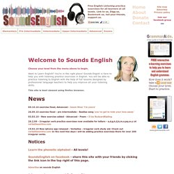 English listening practice exercises - Sounds English | Pearltrees
