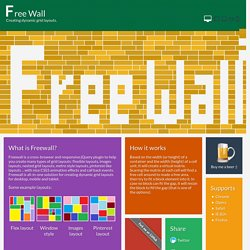 Freewall - jQuery plugin for creating grid layouts | Pearltrees