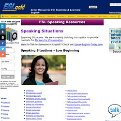 ESL English as a Second Language free materials for teaching