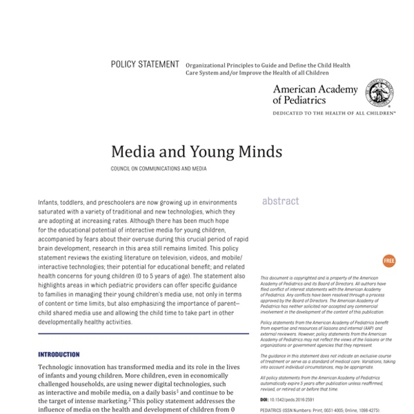 Media and Young Minds