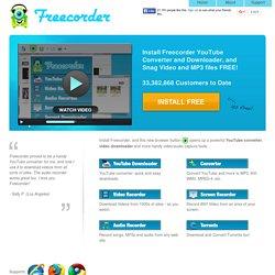 Freecorder 4 скачать бесплатно
