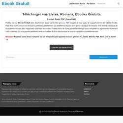 Ebooks Gratuits - Télécharger vos Livres EPUB - PDF en…