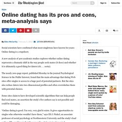 Online dating has its pros and cons meta-analysis say something