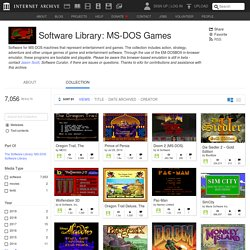 Software library: ms-dos games: free software: download.