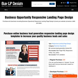 Responsive Landing Page Design Pearltrees - Lead generation website template