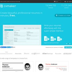 Create Professional Resumes Online For Free