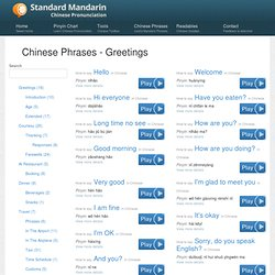 Basic mandarin chinese phrases pearltrees m4hsunfo