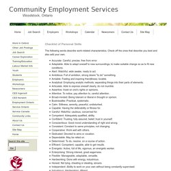 top skills and values employers seek from job seekers resume checklist of personal skills