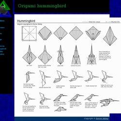 Dynamic Miscellany Origami Hummingbird