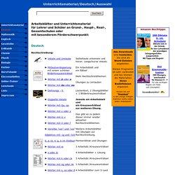 Unterrichtsmaterial und Arbeitsblätter für Lehrer in Deutsch ...