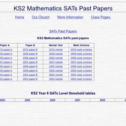 Free KS  SATs and KS  SATs past papers for parents to download    TheSchoolRun