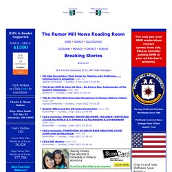 The Rumor Mill News Reading Room - Breaking Stories | Pearltrees