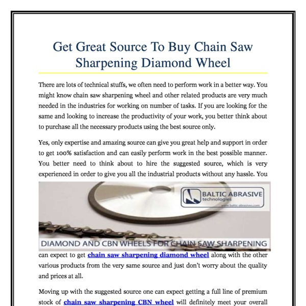 Get Great Source To Buy Chain Saw Sharpening Diamond Wheel