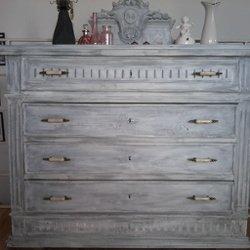 patiner un meuble en gris latest meuble tv bois naturel patin gris blanchi avec paniers. Black Bedroom Furniture Sets. Home Design Ideas