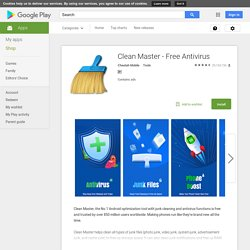 Free antivirus clean master for pc   Clean Master Free Download for