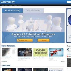 Cinema 4D Video Tutorials, Templates and Plugins - Cineversity