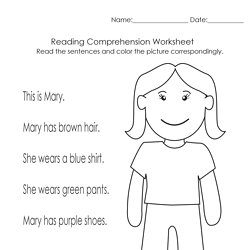 math worksheet : comprehension  pearltrees : Reading Worksheets For Kindergarten For Comprehension
