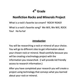 Rocks and minerals pearltrees 4th grade nonfiction rocks and minerals unit project 2 2 ccuart Choice Image