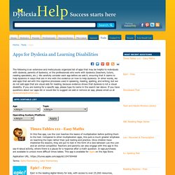 Apps for Dyslexia and Learning Disabilities | Pearltrees