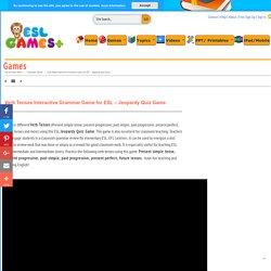 Verb Tenses Interactive Grammar Game for ESL - Jeopardy Quiz Game