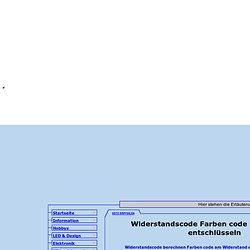 widerstand farbcode rechner