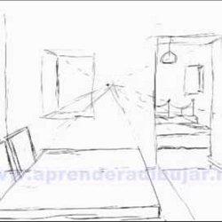 dessin de linterieur dune maison en perspective. Black Bedroom Furniture Sets. Home Design Ideas