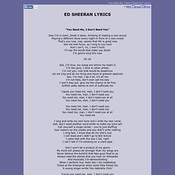 Lyrics- Ed Sheeran - +   Pearltrees
