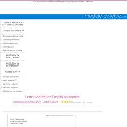 Lettres De Motivation Job D Ete Pearltrees