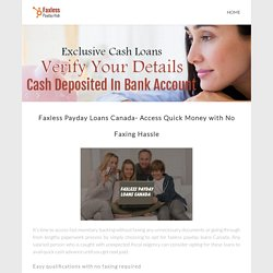 Faxless Payday Loans | Pearltrees