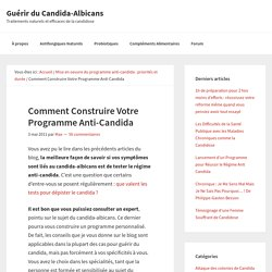 candida albicans regime alimentaire