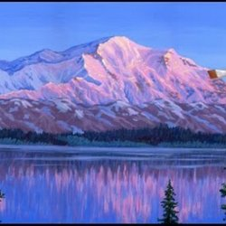 u  montagne glaciers acrylique