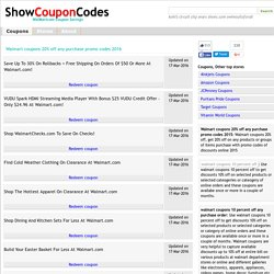 b3a572091920 Walmart coupon codes 20% off | Pearltrees