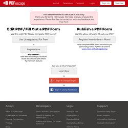 Free PDF Editor & Free PDF Form Filler - Account | Pearltrees
