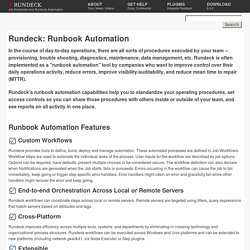 Rundeck org - Job Scheduler and Runbook Automation | Pearltrees