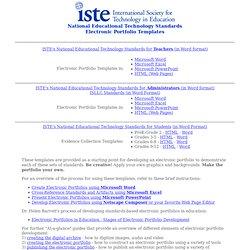 ISTE NETS EPortfolio Templates Pearltrees - E portfolio templates