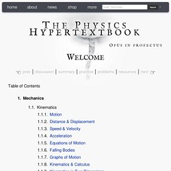 the physics hypertextbook pearltrees