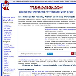 Free kindergarten worksheetsreading phonics vocabulary pearltrees free kindergarten worksheetsreading phonics vocabulary ibookread ePUb