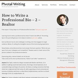 writing a professional profile