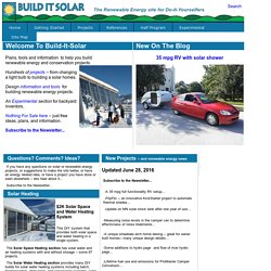 Builditsolar Solar Energy Projects For Do It Yourselfers To Save Money And
