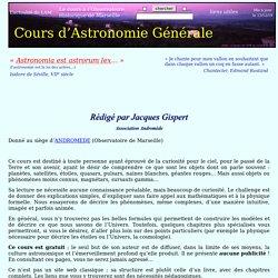 astronomie cours