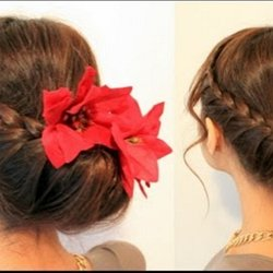 Holiday braided updo hairstyle for medium long hair tutorial holiday braided updo hairstyle for medium long hair tutorial pmusecretfo Images