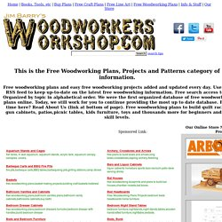 Free Woodworking Plans Projects And Patterns At Woodworkersworkshop