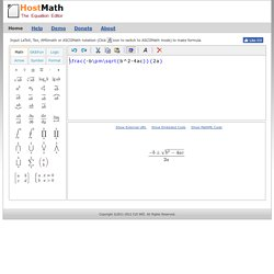 Latex online equation editor