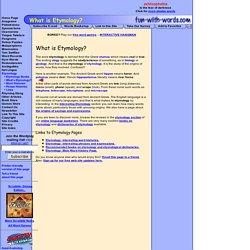 word origins website