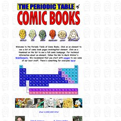 The comic book periodic table of the elements pearltrees the comic book periodic table of the elements urtaz Choice Image
