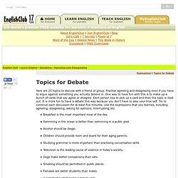 it debate topics